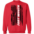Fort Worth Texas American Flag Crewneck Sweatshirt