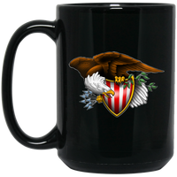 776 Eagle With Shield 15 oz. Black Coffee Mug