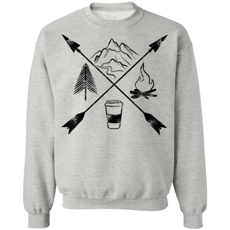 Hiking Camping Outdoor Coffee Women's Crewneck Sweatshirt
