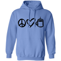 Peace Love Coffee Pullover Hoodie