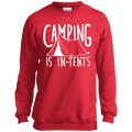 Boys' Camping is In-Tents Crewneck Sweatshirt