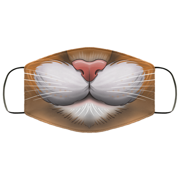 Cat Feline Funny Face Mask