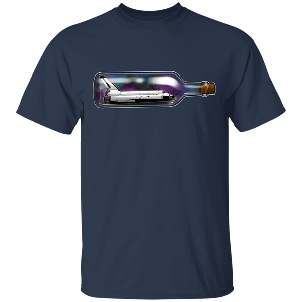 Spacecraft in a Bottle Spaceship T-Shirt