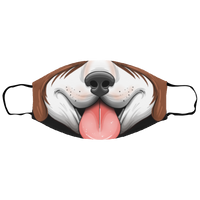 Small Dog Panting Canine Face Mask