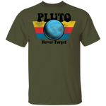 Men's Space Planet Pluto Vintage 80s T-Shirt