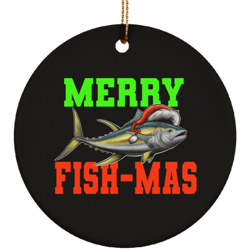 Merry Fish-mas Saltwater Fish Christmas Ceramic Ornament