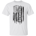 Fishing Saltwater Fresh Water Fish American Flag T-Shirt