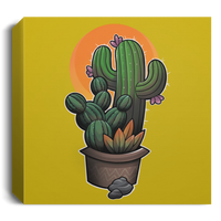 Cactus Plant Prickly Square Canvas 1.5in Frame