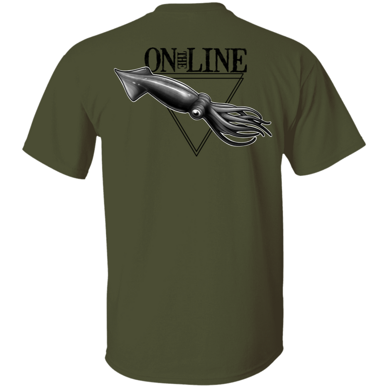 Giant Squid On The Line Saltwater Double Sided T-Shirt