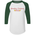 Spreading Christmas Beer Funny Ugly Christmas Baseball Raglan T-Shirt