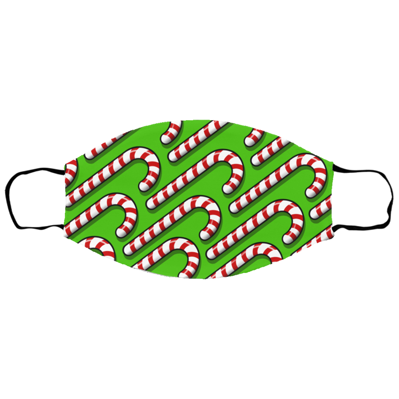 Candy Cane Christmas Mask Sm/Med Face Mask