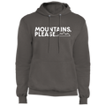 Mountains, Please. Hiking Mountains Nature Pullover Hoodie