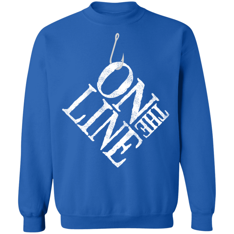 On The Line Saltwater Fishing Crewneck Sweatshirt