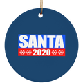 Santa 2020 for President Christmas Ceramic Ornament