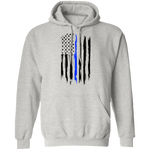 Law Enforcement Thin Blue Line American Flag Pullover Hoodie