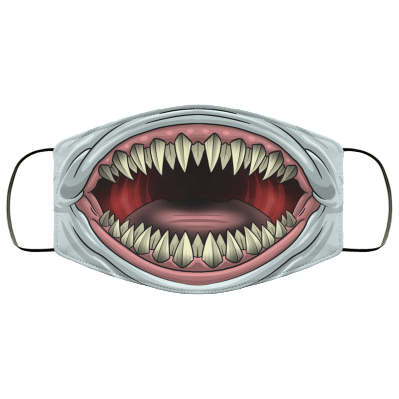 Shark Scary Teeth Great White Face Mask