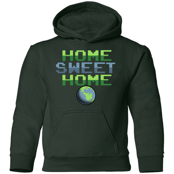 Youth Space Planet Earth Home Sweet Pullover Hoodie