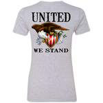 Women's We the People American Bald Eagle United We Stand Double Sided Boyfriend T-Shirt