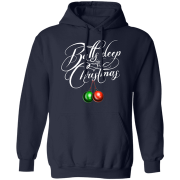 Balls Deep In Christmas Funny Ugly Christmas Pullover Hoodie