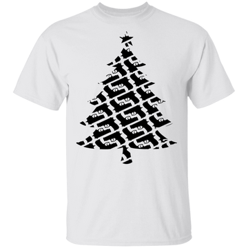 Handgun Pistol Firearm Christmas Tree T-Shirt