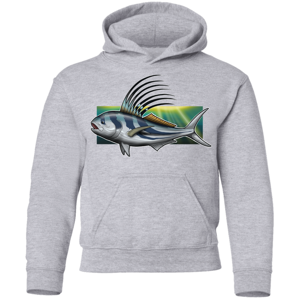 Youth Rooster Saltwater Fish Pullover Hoodie