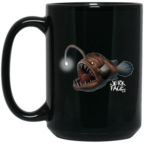 Glow Fish 15 oz. Black Coffee Mug