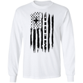 Medic Ambulance Nurse Hospital American Flag Long Sleeve T-Shirt