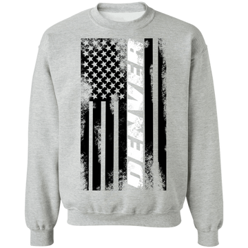 Denver Colorado American Flag Crewneck Sweatshirt