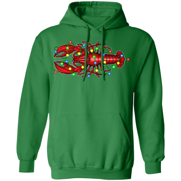 Lobster Merry Christmas Saltwater Pullover Hoodie