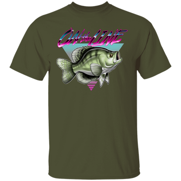 White Crappie Perch On The Line Saltwater Fish T-Shirt