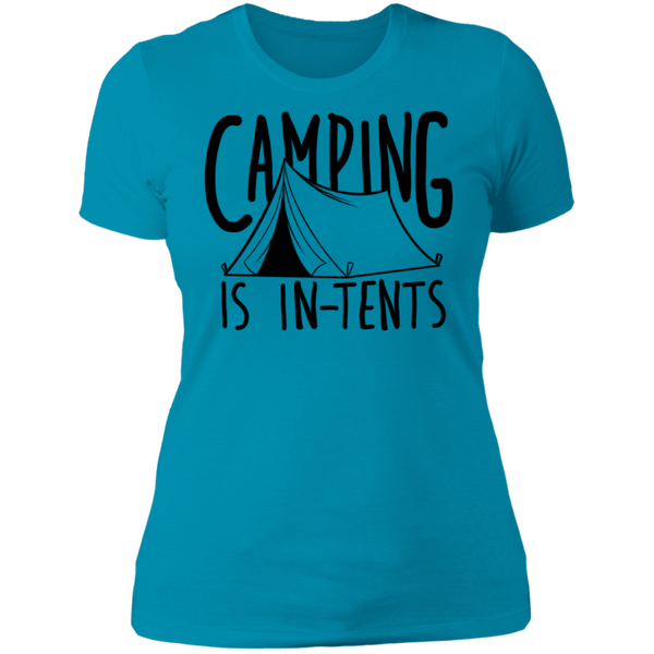 Women's Camping is In-Tents Funny T-Shirt