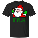 Drunk Santa Funny Ugly Christmas T-Shirt