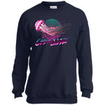 Jellyfish Sea Jellies On The Line Saltwater Youth Crewneck Sweatshirt