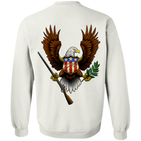 1776 American Bald Eagle Double Sided Crewneck Sweatshirt