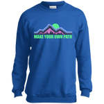 Boys' Make Your Own Path Hiking Camping Nature Crewneck Sweatshirt