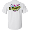Wide Mouth Bass On The Line Saltwater Double Sided T-Shirt