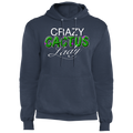 Crazy Cactus Lady Funny Pullover Hoodie