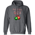 Stop Looking At My Balls Funny Ornament Ugly Christmas Pullover Hoodie