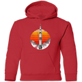 Youth Space USA Sun Rocket Ship Launch Pullover Hoodie