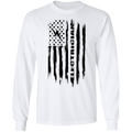 Electrician American Flag Long Sleeve T-Shirt