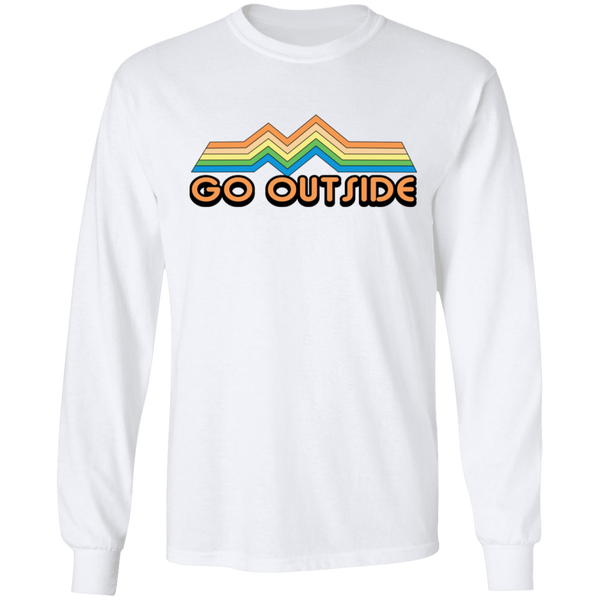 Go Outside Camping Nature Bright Long Sleeve T-Shirt