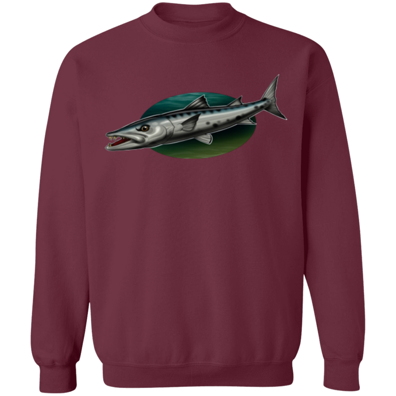 Great Barracuda Saltwater Fish Ocean Crewneck Sweatshirt