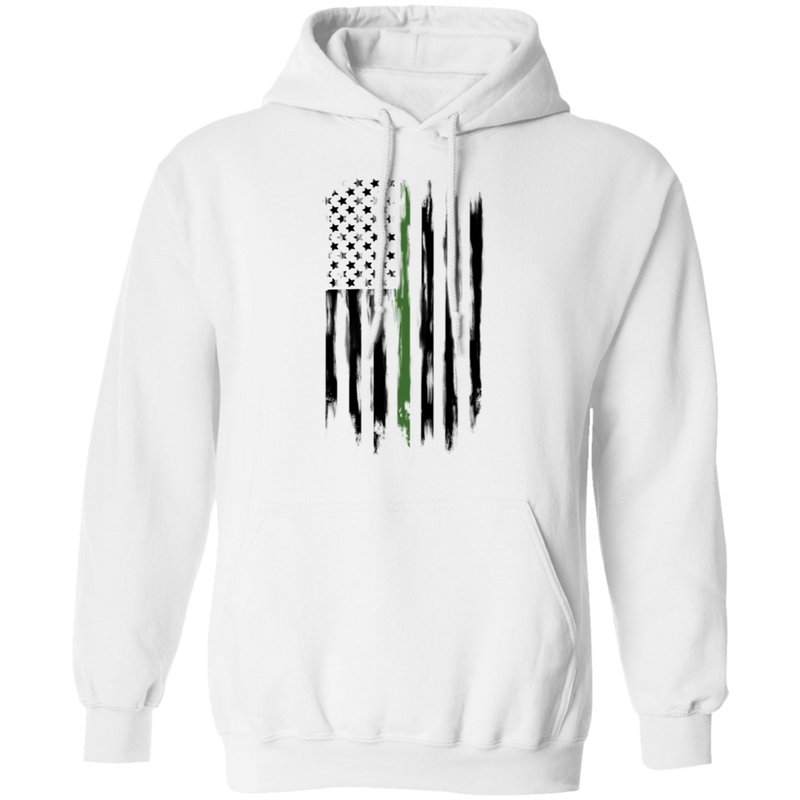 Border Patrol Park Rangers Conservation Thin Green Line Pullover Hoodie