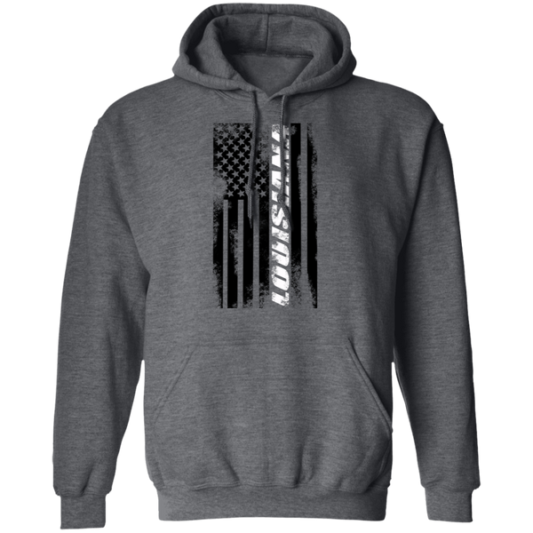 Louisiana American Flag Pullover Hoodie