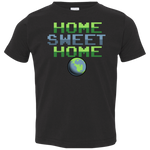 Toddler Space Planet Earth Home Sweet Jersey T-Shirt