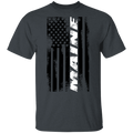 Maine American Flag T-Shirt
