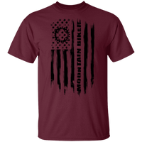Mountain Biker Biking Cyclist American Flag T-Shirt