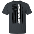 San Francisco California American Flag T-Shirt