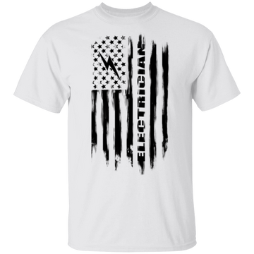 Electrician American Flag T-Shirt
