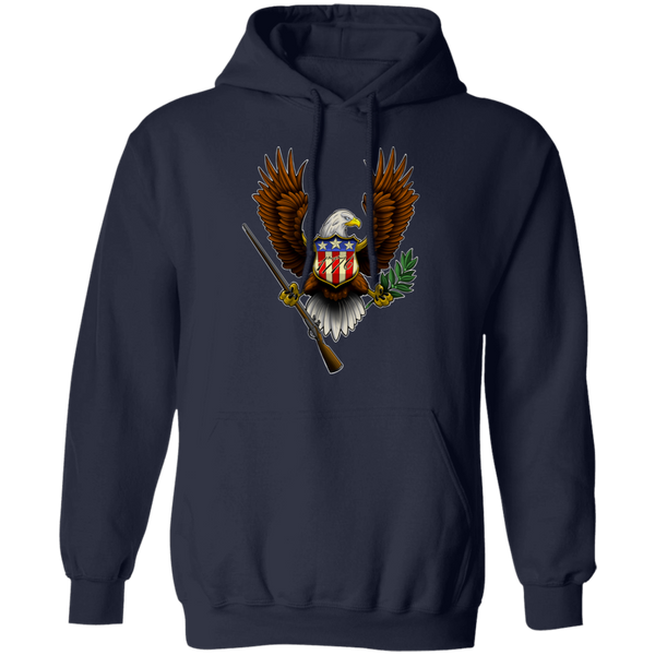 1776 American Bald Eagle Pullover Hoodie